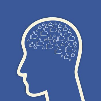 33955633 - human head with brain which consists of social networks